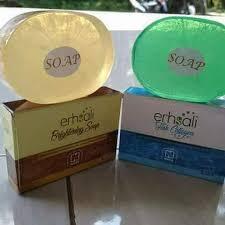 Jual Erhsali Charcoal Soap Untuk Perawatan kulit Badan